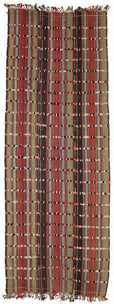 Kilim Konya Cicim Tappeto 161X433 Orientale Tessuto A Mano Alfombra Pasillo Marrone Scuro/Rosso Scuro (Lana, Turchia)
