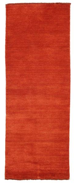 Handloom Fringes - Ruggine/Rosso Tappeto 80X200 Moderno Alfombra Pasillo Ruggine/Rosso (Lana, India)