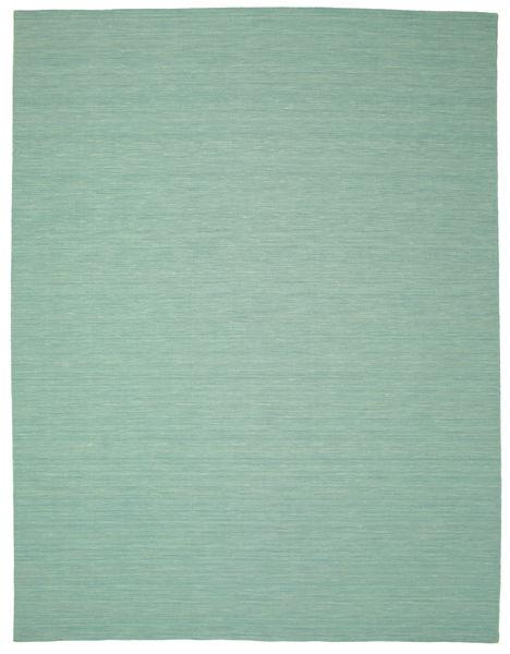 Kilim Loom - Mint Verde Tappeto 300X400 Moderno Tessuto A Mano Verde Pastello/Blu Turchese Grandi (Lana, India)