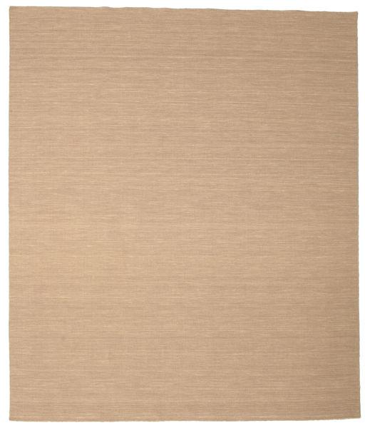Kilim Loom - Beige Tappeto 250X300 Moderno Tessuto A Mano Marrone Chiaro/Beige Scuro/Beige Grandi (Lana, India)