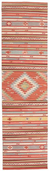 Kilim Mersin Tappeto 80X300 Moderno Tessuto A Mano Alfombra Pasillo Ruggine/Rosso/Bianco/Creme (Lana, India)