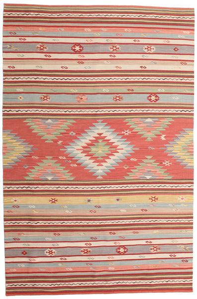 Kilim Mersin Tappeto 190X290 Moderno Tessuto A Mano Ruggine/Rosso/Beige (Lana, India)