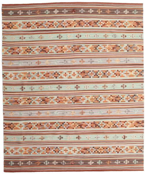 Kilim Anatolian Tappeto 240X290 Moderno Tessuto A Mano Rosso Scuro/Beige (Lana, India)
