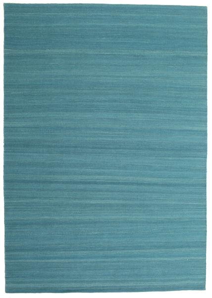 Kilim Loom - Petrol Blue Tappeto 160X230 Moderno Tessuto A Mano Blu/Blu Turchese (Lana, India)