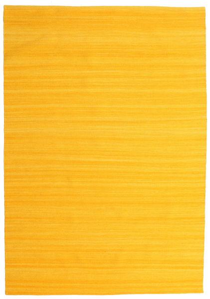 Kilim Loom - Giallo Tappeto 160X230 Moderno Tessuto A Mano Arancione (Lana, India)