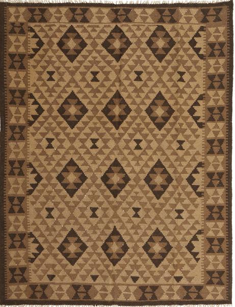 Kilim Maimane Tappeto 156X201 Orientale Tessuto A Mano Marrone Chiaro/Marrone/Marrone Scuro (Lana, Afghanistan)
