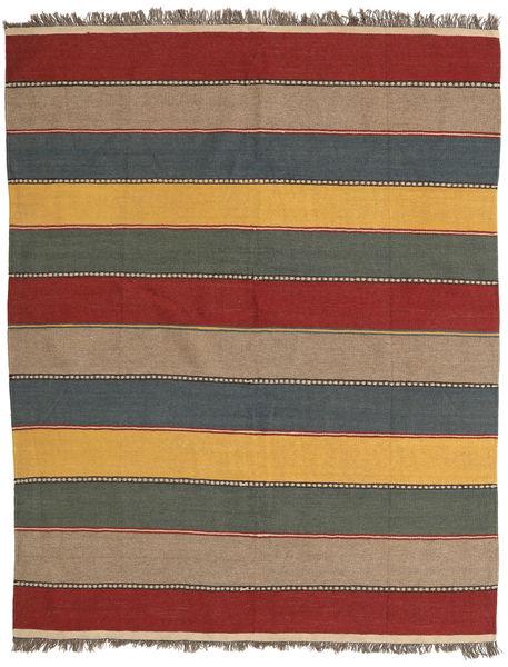 Kilim Tappeto 155X195 Orientale Tessuto A Mano Grigio Scuro/Rosso Scuro (Lana, Persia/Iran)