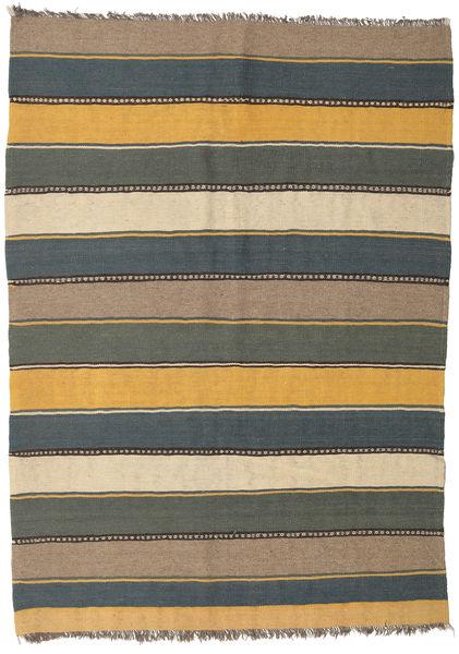 Kilim Tappeto 153X215 Orientale Tessuto A Mano Blu/Grigio Scuro (Lana, Persia/Iran)