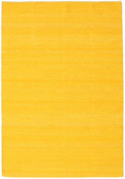 Kilim Loom - Giallo Tappeto 140X200 Moderno Tessuto A Mano Arancione (Lana, India)