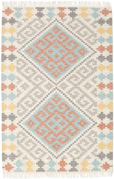 Summer Kilim Tappeto 120X180 Moderno Tessuto A Mano Beige/Grigio Chiaro (Lana, India)