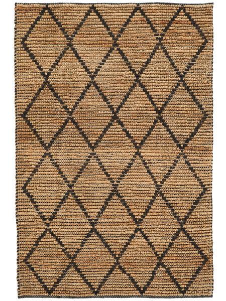 Tappeto Esterno Serena Jute - Natural/Nero Tappeto 120X180 Moderno Tessuto A Mano Grigio Chiaro/Beige (Tappeto In Iuta India)
