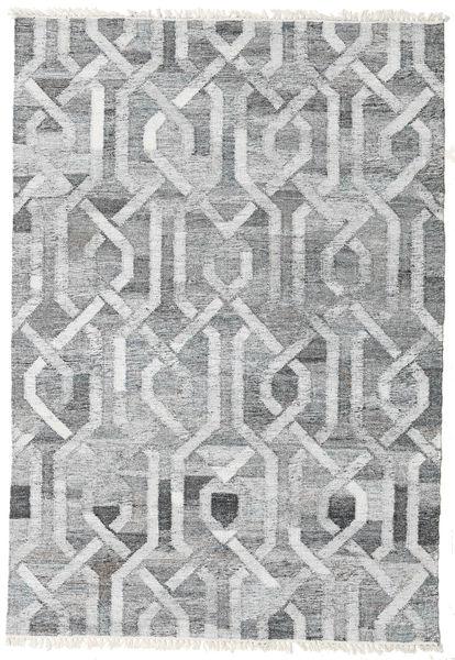 Tappeto Esterno Trinny - Scuro Grigio/Grigio Tappeto 140X200 Moderno Tessuto A Mano Grigio Chiaro/Bianco/Creme ( India)