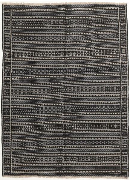 Kilim Tappeto 147X200 Orientale Tessuto A Mano Grigio Scuro/Nero (Lana, Persia/Iran)