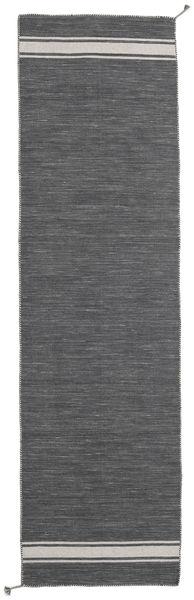 Ernst - Grigio Scuro/Beige Chiaro Tappeto 80X300 Moderno Tessuto A Mano Alfombra Pasillo Grigio Scuro (Lana, India)