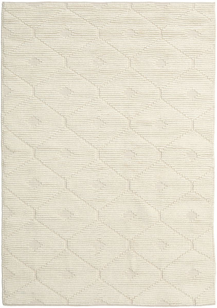 Romby - Off-Bianco Tappeto 160X230 Moderno Tessuto A Mano Beige/Beige Scuro (Lana, India)