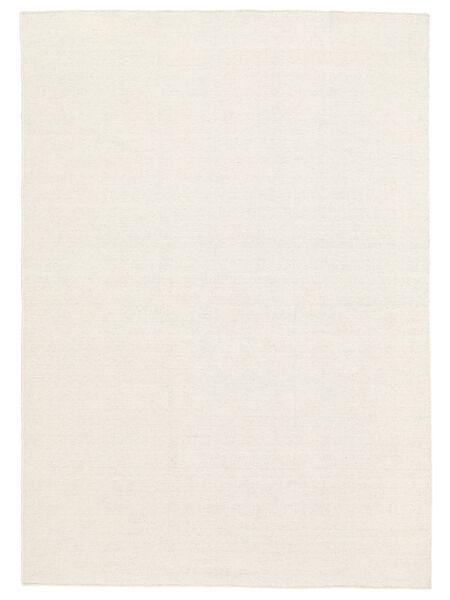 Kilim Loom - Bianco Sporco Tappeto 250X350 Moderno Tessuto A Mano Beige/Bianco/Creme Grandi (Lana, India)