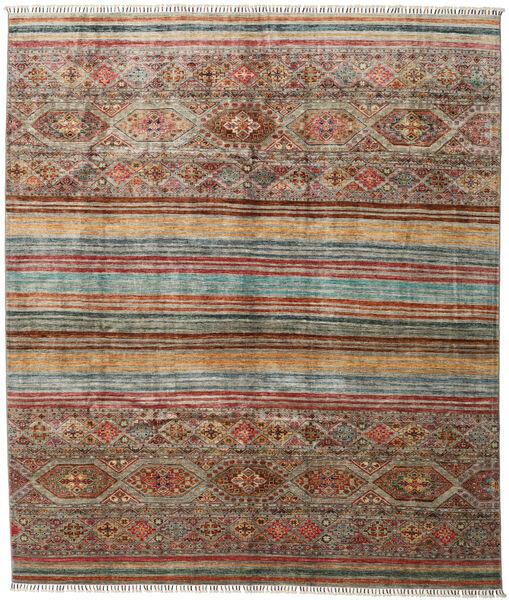 Shabargan Tappeto 244X283 Moderno Fatto A Mano Grigio Chiaro/Marrone Scuro (Lana, Afghanistan)