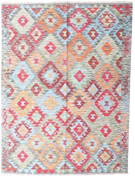 Kilim Afghan Old Style Tappeto 150X199 Orientale Tessuto A Mano Grigio Chiaro/Rosa Chiaro (Lana, Afghanistan)