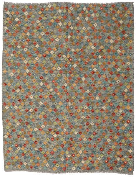 Kilim Afghan Old Style Tappeto 178X228 Orientale Tessuto A Mano Grigio Scuro/Verde Oliva/Grigio Chiaro (Lana, Afghanistan)