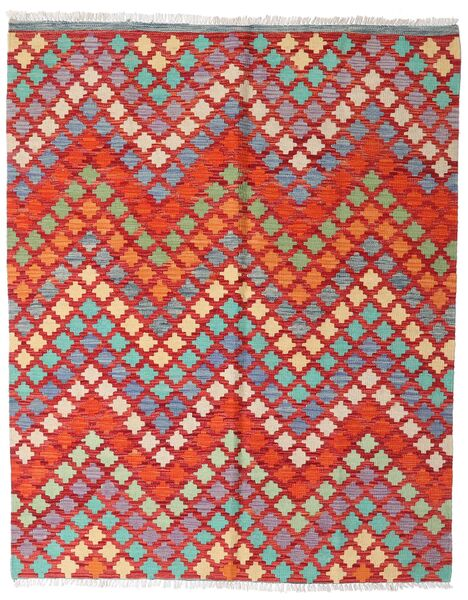 Kilim Afghan Old Style Tappeto 151X187 Orientale Tessuto A Mano Rosso Scuro/Ruggine/Rosso (Lana, Afghanistan)