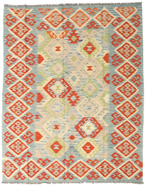 Kilim Afghan Old Style Tappeto 157X197 Orientale Tessuto A Mano Arancione/Verde Chiaro (Lana, Afghanistan)