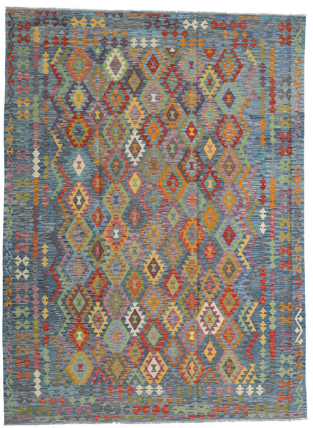 Kilim Afghan Old Style Tappeto 256X351 Orientale Tessuto A Mano Grigio Chiaro/Marrone Chiaro Grandi (Lana, Afghanistan)