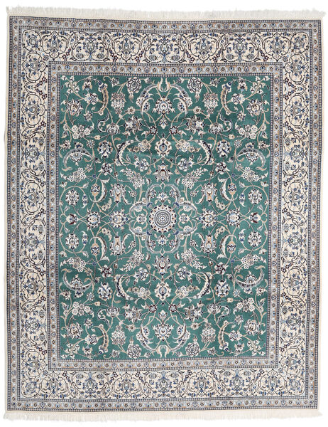 Nain 9La Tappeto 252X306 Orientale Fatto A Mano Grigio Chiaro/Grigio Scuro Grandi (Lana/Seta, Persia/Iran)
