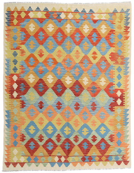 Kilim Afghan Old Style Tappeto 154X200 Orientale Tessuto A Mano Beige Scuro/Rosso (Lana, Afghanistan)