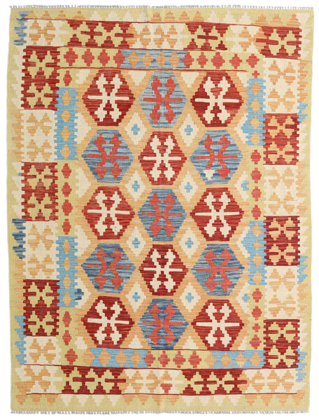Kilim Afghan Old Style Tappeto 151X200 Orientale Tessuto A Mano Beige Scuro/Beige (Lana, Afghanistan)