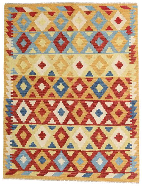 Kilim Afghan Old Style Tappeto 148X192 Orientale Tessuto A Mano Beige Scuro/Beige (Lana, Afghanistan)