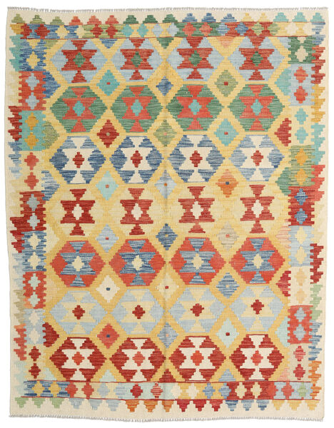 Kilim Afghan Old Style Tappeto 159X201 Orientale Tessuto A Mano Beige Scuro/Rosso (Lana, Afghanistan)