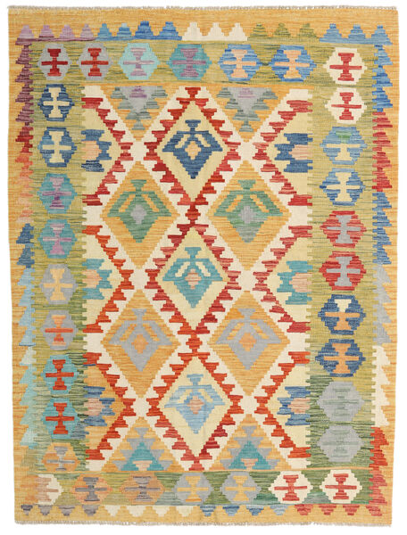 Kilim Afghan Old Style Tappeto 153X202 Orientale Tessuto A Mano Beige Scuro/Marrone Chiaro (Lana, Afghanistan)