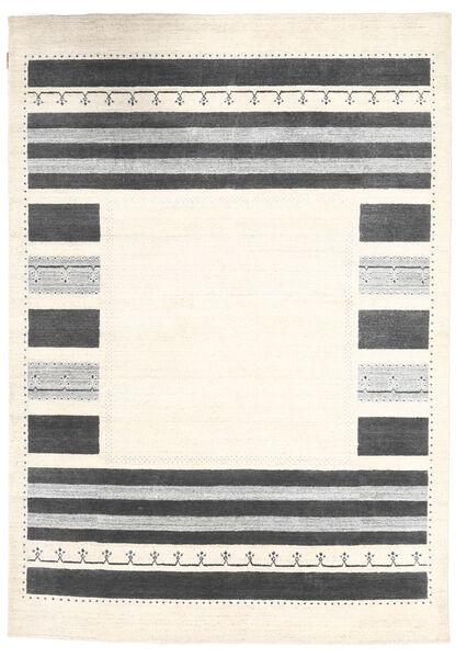 Loribaf Loom Tappeto 163X234 Moderno Fatto A Mano Beige/Grigio Scuro (Lana, India)