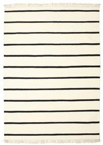 Dorri Stripe - Bianco/Nero Tappeto 160X230 Moderno Tessuto A Mano Beige/Bianco/Creme (Lana, India)