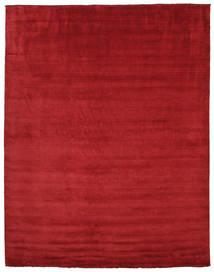 Handloom Fringes - Rosso Scuro Tappeto 300X400 Moderno Rosso Grandi (Lana, India)