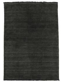 Handloom Fringes - Nero/Grigio Tappeto 140X200 Moderno Nero (Lana, India)
