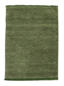 Handloom Fringes - Verde Tappeto 140X200 Moderno Verde Oliva/Verde Scuro (Lana, India)
