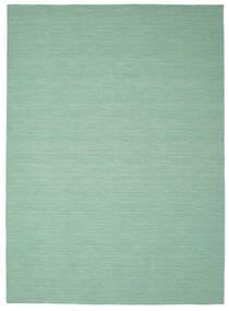 Kilim Loom - Mint Verde Tappeto 250X350 Moderno Tessuto A Mano Verde Pastello/Blu Turchese Grandi (Lana, India)