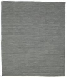 Kilim Loom - Grigio Scuro Tappeto 250X300 Moderno Tessuto A Mano Verde Scuro/Grigio Chiaro Grandi (Lana, India)