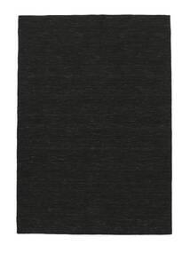 Kilim Loom - Nero Tappeto 160X230 Moderno Tessuto A Mano Nero (Lana, India)