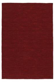 Kilim Loom - Rosso Scuro Tappeto 140X200 Moderno Tessuto A Mano Rosso (Lana, India)