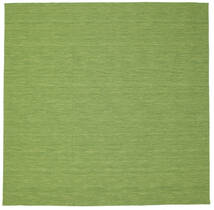 Kilim Loom - Verde Tappeto 300X300 Moderno Tessuto A Mano Quadrato Verde Oliva/Verde Chiaro Grandi (Lana, India)