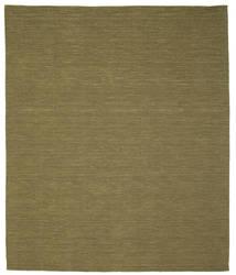 Kilim Loom - Oliva Tappeto 250X300 Moderno Tessuto A Mano Verde Oliva Grandi (Lana, India)