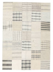 Kilim Patchwork Tappeto 142X200 Moderno Tessuto A Mano Bianco/Creme/Beige/Grigio Chiaro (Lana, Turchia)