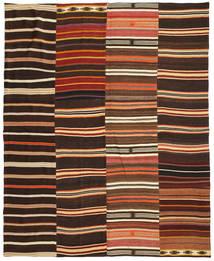 Kilim Patchwork Tappeto 242X298 Moderno Tessuto A Mano Marrone Scuro/Rosso (Lana, Turchia)