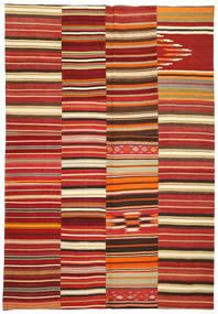 Kilim Patchwork Tappeto 245X360 Moderno Tessuto A Mano Rosso Scuro/Ruggine/Rosso (Lana, Turchia)