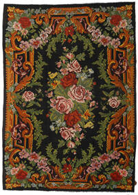 Kilim Rose Tappeto 247X347 Orientale Tessuto A Mano Nero/Verde Scuro (Lana, Moldavia)
