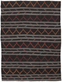 Kilim Semi-Antichi Turchi Tappeto 239X323 Orientale Tessuto A Mano Nero/Grigio Scuro (Lana, Turchia)