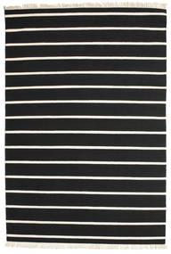Dorri Stripe - Nero/Bianco Tappeto 200X300 Moderno Tessuto A Mano Nero/Beige (Lana, India)