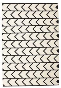 Delia Tappeto 160X230 Moderno Tessuto A Mano Beige/Nero (Cotone, India)